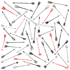 Vector collection hand-drawn arrows