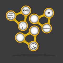 Modern infographics cercles. Vector design