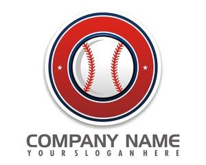 baseball icon logo image vector
