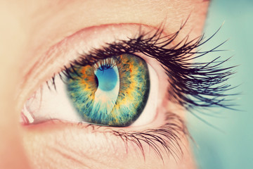 Fotobehang Iris eye