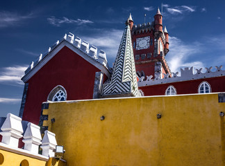 Fotomurales - Pena National Palace in Sintra, Portugal