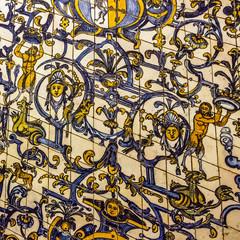 Fotomurales - Ceramic tile, museum Azulejo, Lisbon, Portugal.