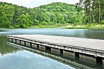 lake and pier