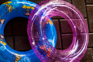 colorful swimming ring