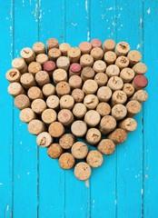 Cork, Wine, Heart Shape.
