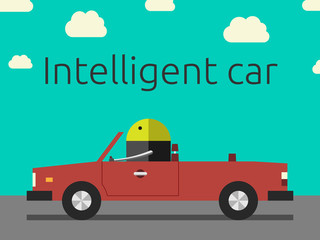 Intelligent car with robot