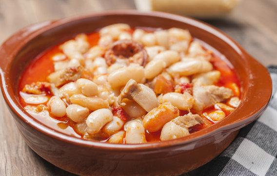 Beans potage rioja