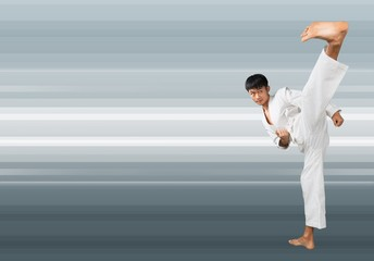 Karate, Martial Arts, Kicking.