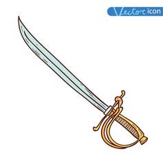 pirate sword, vector illustration.