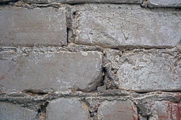 modern old white brick wall