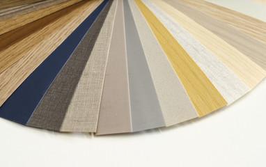 Decorative wood palette guide. Interior design.