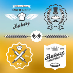 bakery bread vintage retro badges labels logo
