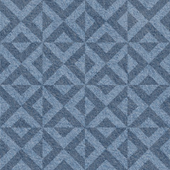Abstract paneling pattern - seamless pattern - Blue denim jeans