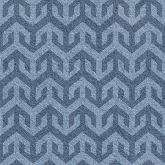 Abstract paneling pattern - seamless pattern - blue jeans textil