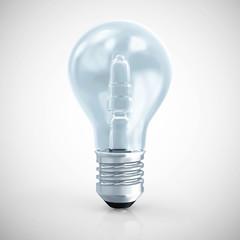 Modern Blue Light Bulb on gradient background