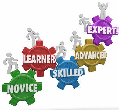 Expertise Levels Novice Learning Skilled Advanced People Climbin