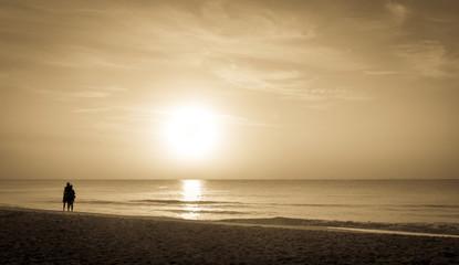 Caribbean sea sunrise