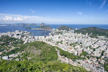 Rio de Janeiro Brazil Skyline Bright Scenic Overlook