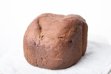 Black bread on white towel