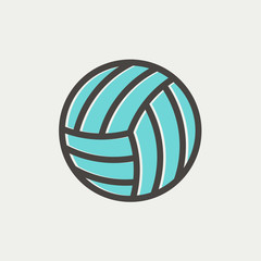 Volleyball ball thin line icon