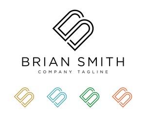 B S Letter Logo Template