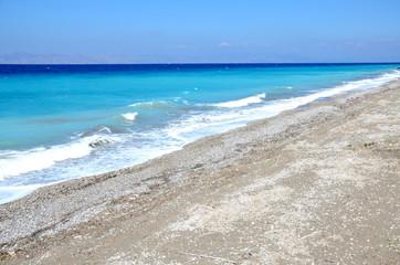 Beach surrounding Rhodes city