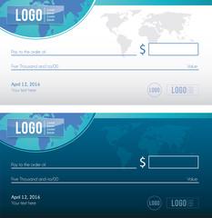 Bank check illustration design, cheque vector