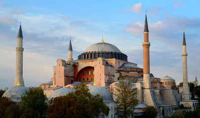 Istanbul. Hagia Sophia at sunset