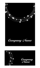 Abstract Luxury Black Diamond Business Card Vector Illustration