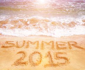 summer 2015 written on the sand
