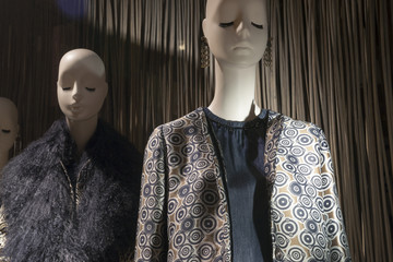 fashion clothing store showing mannequin