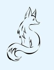 Fox animal, art vector design
