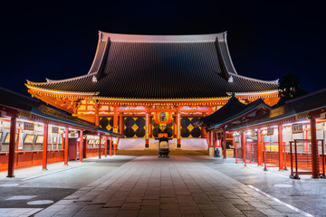 Papiers peints Edifice religieux 浅草 浅草寺 夜景