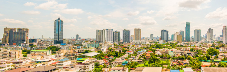 Panorama landscape of Bangkok city day
