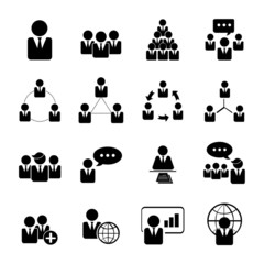 business, management and human resource icons set eps 10