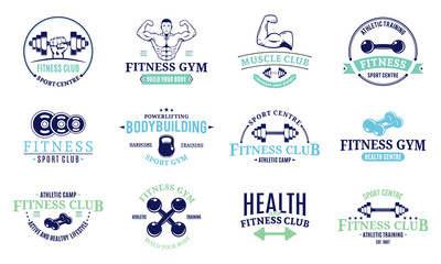 Sport and Fitness Logo Templates, Gym Logo, Labels and Badges