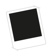 Polaroidvorlage eingesteckt