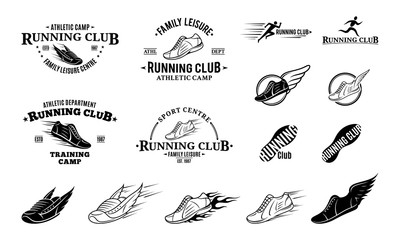 Running Club Logo, Labels, Icons and Design Elements