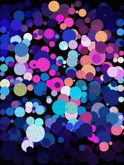 Blue and pink bubble with little line art texture