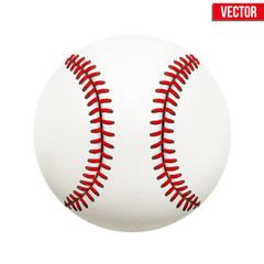 Vector illustration of baseball leather ball