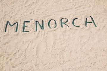 menorca wort name sand