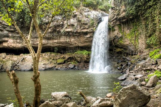 Cascada Blanca waterfall near Matagalpa, Nicaragua