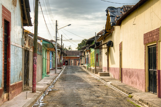 Colorful houses in central Granada, Nicaragua