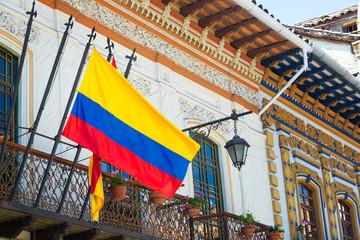 Flag in Cuenca, Ecuador