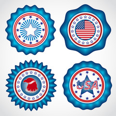 American Independence Day. Holiday badges