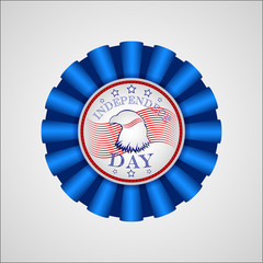 American Independence Day. Holiday badge