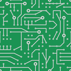 printed circuit seamless pattern