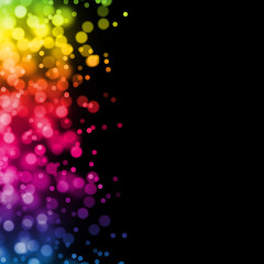 Wall Mural - Background abstract colorful rainbow black wallpaper illustration