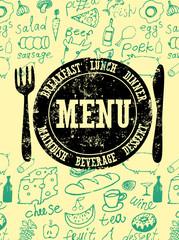 Restaurant menu design. Vector illustration.