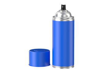 blue spray paint can